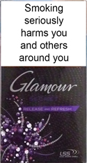 Glamour Secret Release and Refresh (Violet) Cigarettes pack