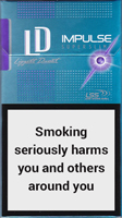 LD Impulse Super Slims Purple Cigarettes pack