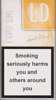 LD Super Slims Amber Cigarettes pack