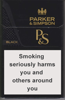 Parker & Simpson Black Cigarettes pack