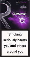 Rothmans Royals Demi Click Purple Cigarettes pack