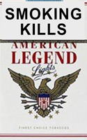American Legend White Cigarettes pack