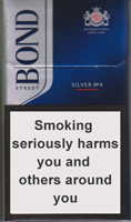 Bond Street Smart Silver 4 Cigarettes pack