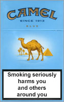Camel Lights (Blue) Cigarettes pack
