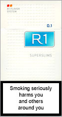 R1 Super Slims 100`s Cigarettes pack