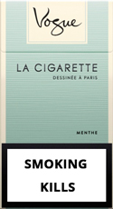 Vogue Super Slims Menthol 100s Cigarettes pack