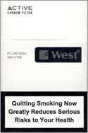 West Fusion White Cigarettes pack